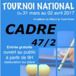 Tournoi national – Cadre 47/2 – Académie de Billard de Saint-Dizier – 2017/2018