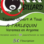 Association de billard de Varennes-en-Argonne – Tournoi Blackball – 2017