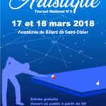 Tournoi national – Artistique – Académie de Billard de Saint-Dizier – 2017/2018