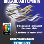"Club Amical de Billard de Commercy – Opération ""Billard au Féminin"" – 2019"